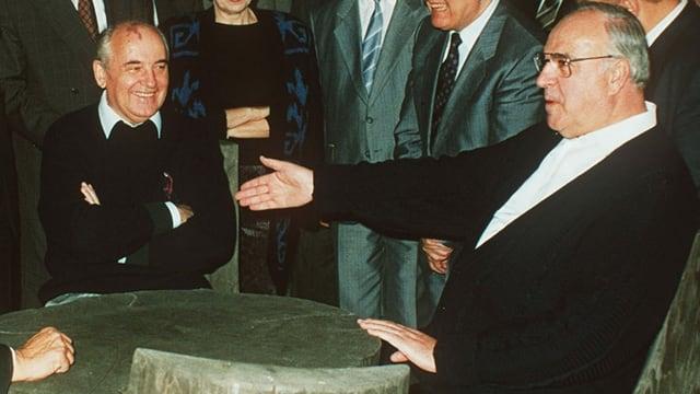 Michail Gorbatschow und Helmut Kohl