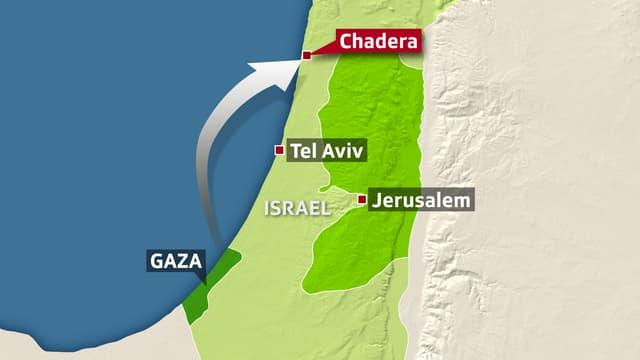 Karte von Israel und dem Gazastreifen