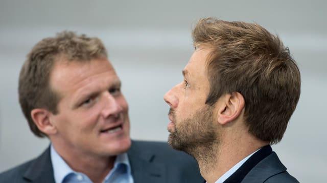 Kevin Schläpfer und Gerd Zenhäusern.