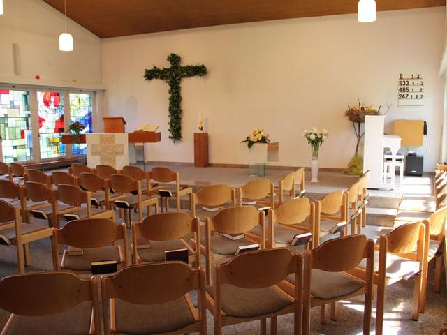 Innenraum der reformierten Kirche Villmergen