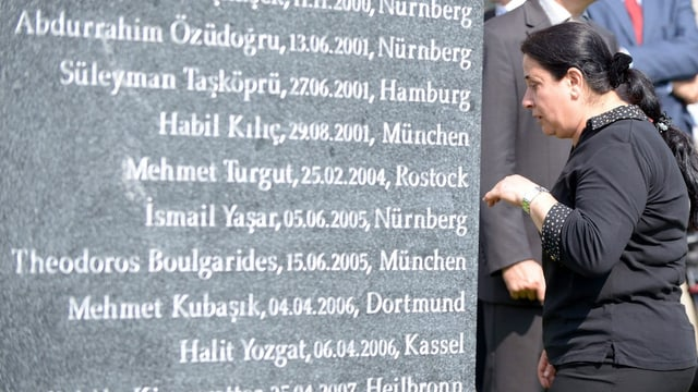Gedenktafel für Opfer des NSU-Terrors.