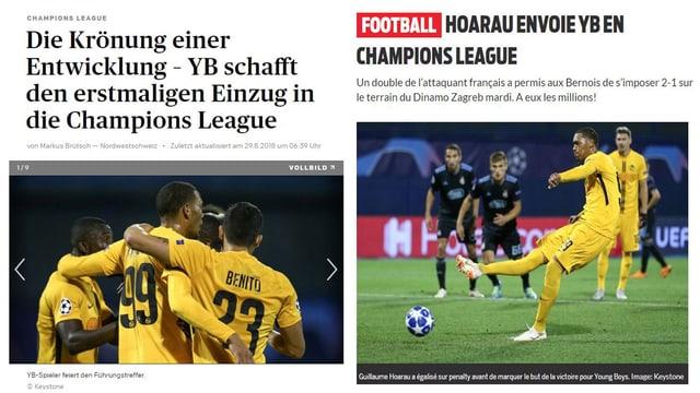 Collage aus Zeitungsschöagzeilen