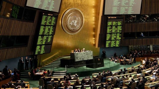 Blick in den Saal der UNO-Vollversammlung