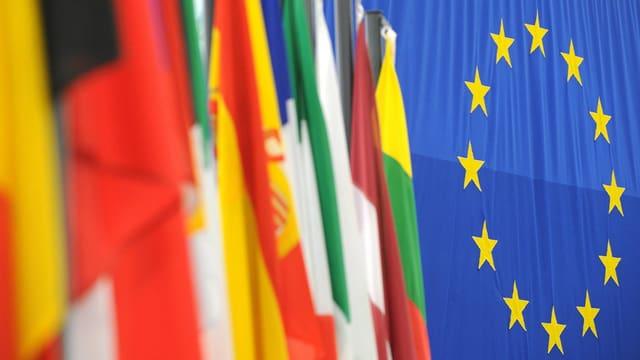 Bandieras dal pajais da l'Uniun europeica.