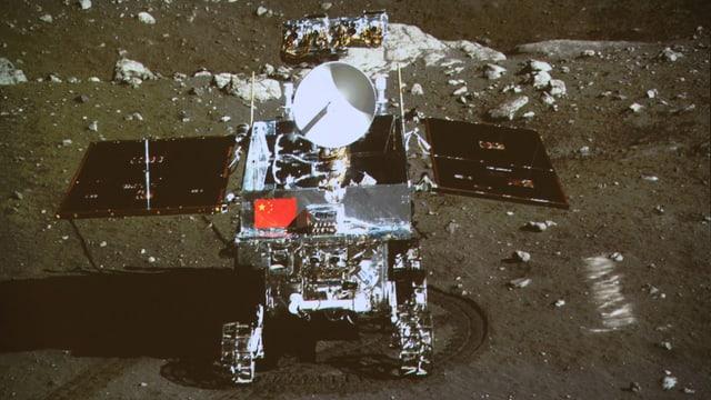Der Rover auf der Mondoberfläche