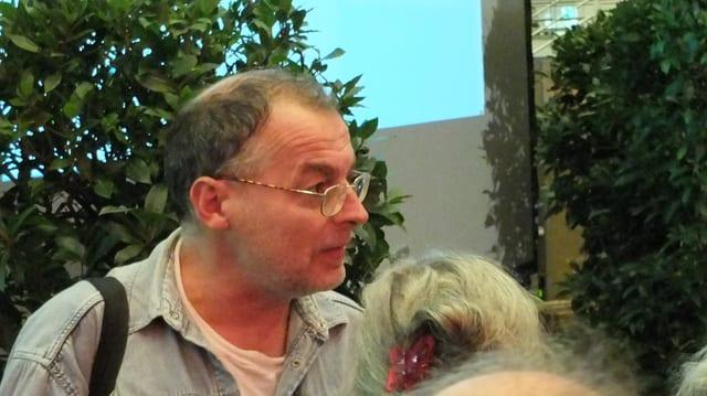 Eric Weber im Wahlzentrum der Messe am Wahltag im Oktober 2012