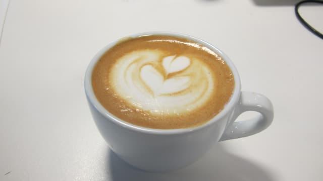 Cappuccino mit Herz.