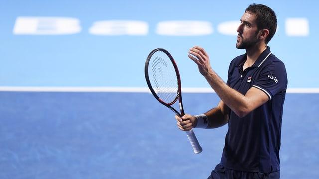Marin Cilic spielt Tennis