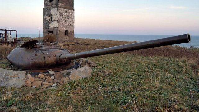 Der Turm eines Panzers