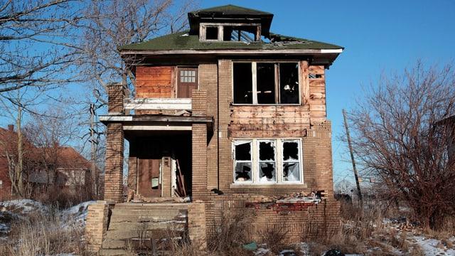 Zerfallenes Haus in Detroit