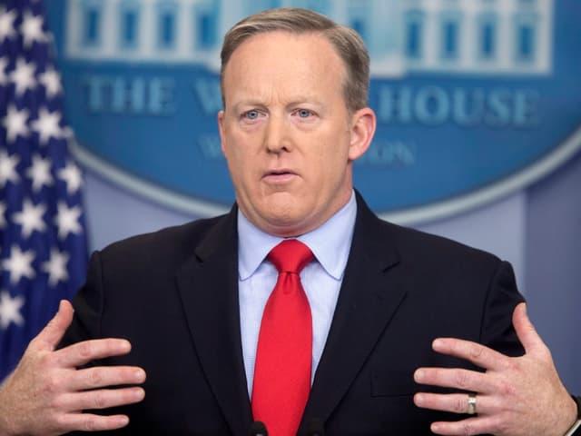 Sean Spicer im Weissen Haus, 3.1.2017.