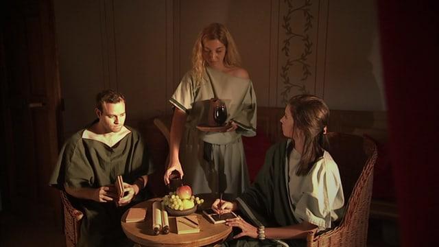 Video «Das Römer-Experiment -  Wie leben die Römer in der Stadt (4/8) Latein» abspielen