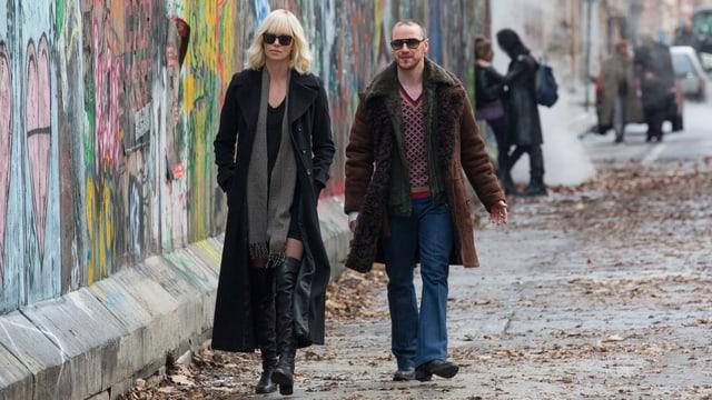 Charlize Theron und James McAvoy in «Atomic Blonde».