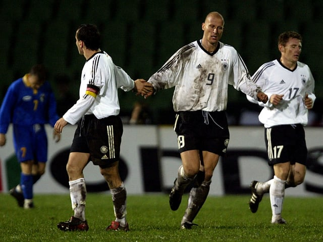 Deutsche Fussballnationalmannschaft 2001.