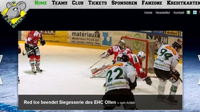 Website EHC Olten