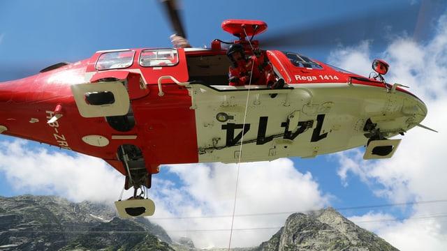 Helicopter da la Rega.