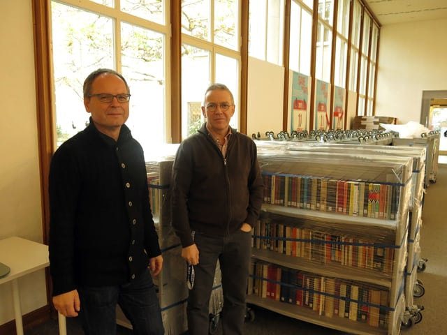 Daniel Tschirren, stellvertretender Direktor, und Peter Kamber, Leiter Sondersammlung