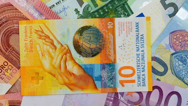 Franken legt gegenüber dem Euro zu