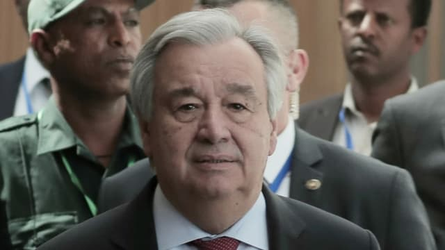 UNO-Generalsekretär Antonio Guterres setzte sich für eine verbindliche Resolution ein.