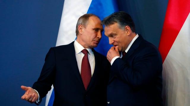 Putin (l.) und Orban