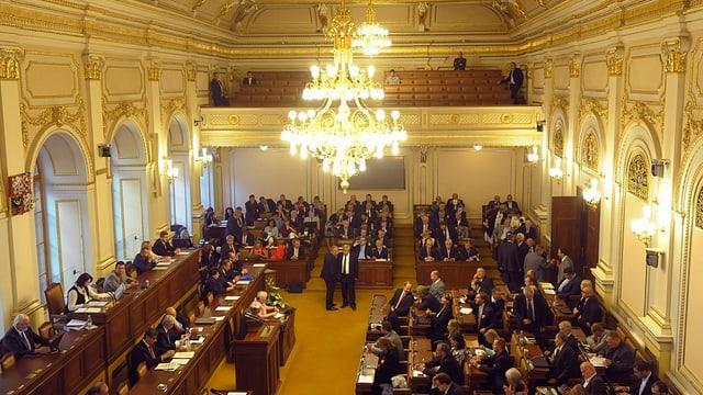 Der Saal des tschechischen Parlaments in Prag.