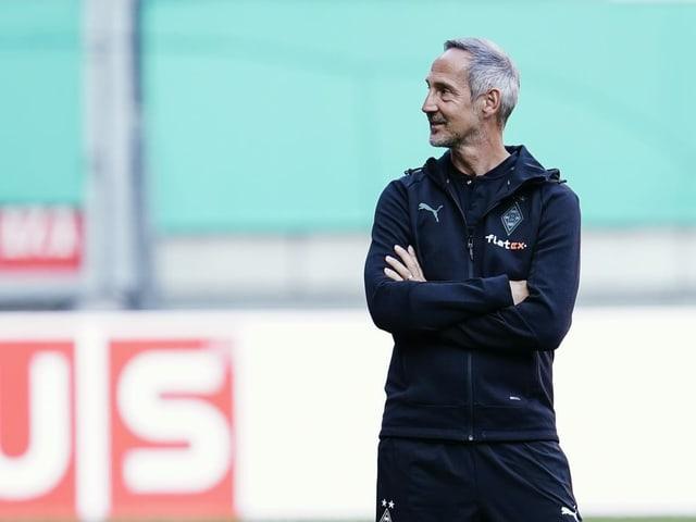 Adi Hütter bei seiner Premiere als Gladbach-Trainer.