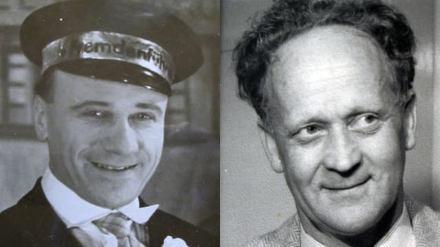 Portraitfotos von Karl Steuer und Ernst Mischler um das Jahr 1954.
