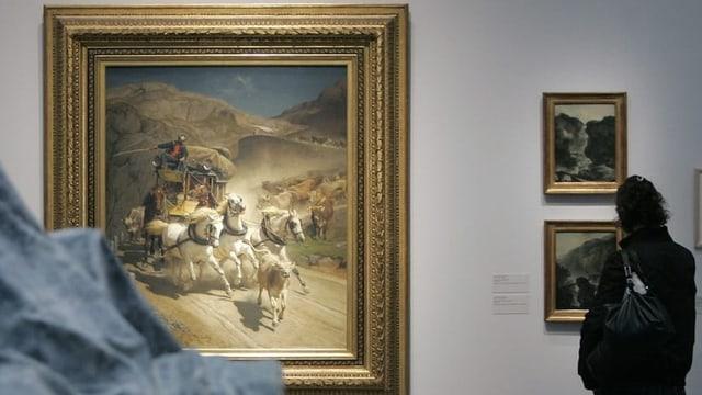 Charrotscha dal Gottard: Il purtret da Rudolf Koller