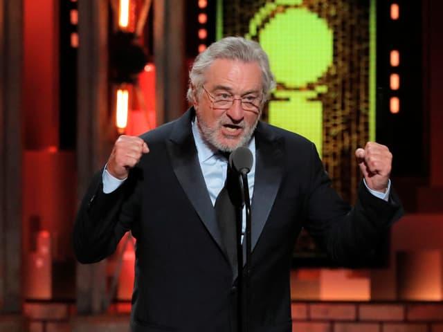 Robert De Niro auf der Bühne