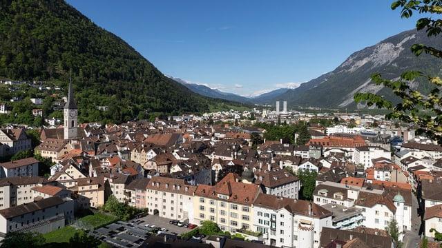Blick auf die Stadt Chur