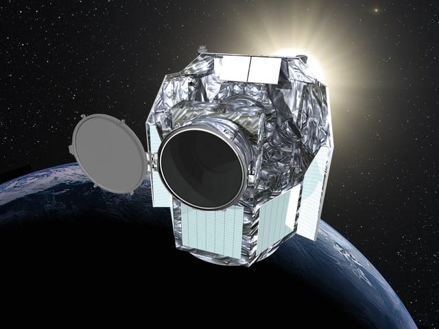 Modell Weltraumteleskop