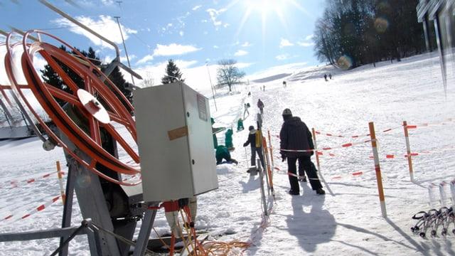 Der tiefstgelegene Skilift der Schweiz.