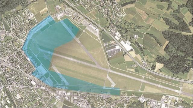 Il terren da la plazza aviatica militara a Dübendorf previs per in parc d'innovaziun.