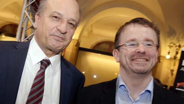 Die Neulinge: Filippo Leutenegger (links) und Raphael Golta (rechts).