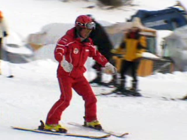 Li Chunlei demonstriert parallele Skiführung («Pommes»)