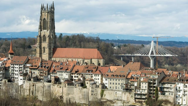 Blick auf Fribourg.