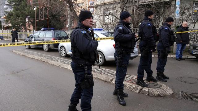 Der von der Polizei gesicherte Tatort.