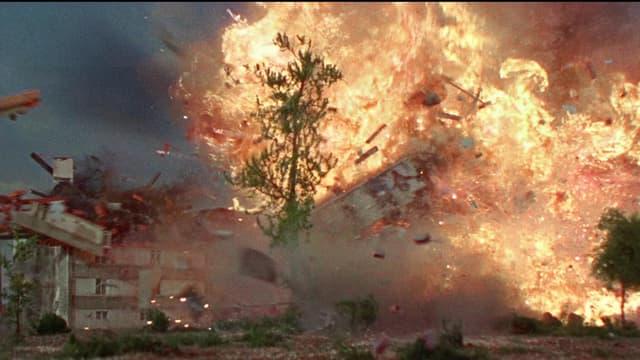 Auf dem Bild ist eine Explosion zu sehen.