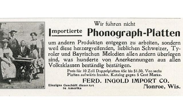 Eine Zeitungswerbung von 1916