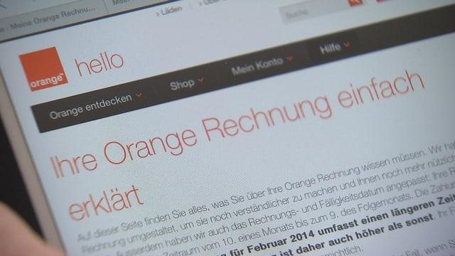 Orange verärgert Kunden
