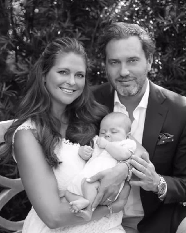 Prinzessin Madeleine, Chris O'Neill und Prinzessin Leonore