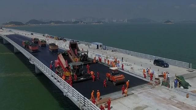 Bauarbeiten Brücke