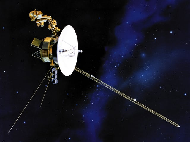 Illustration der Raumsonde «Voyager 1»
