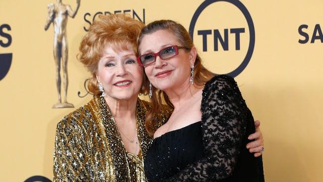 Carrie Fisher und ihre Mutter Debbie Reynolds 2015 in Los Angeles.