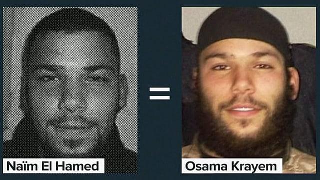 Zwei Porträts von Osama Krayem.