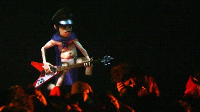 Gorillaz-Bassist Murdoc als «Hologram» bei den MTV Europe Music Awards 2005 in Lissabon.