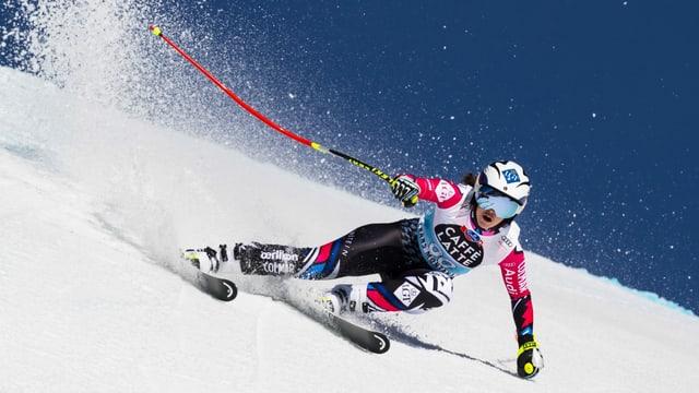 Bis vor Kurzem selbst noch auf den Ski-Weltcup-Pisten unterwegs: Die neunfache Goldmedaillengewinnerin Tina Weirather.