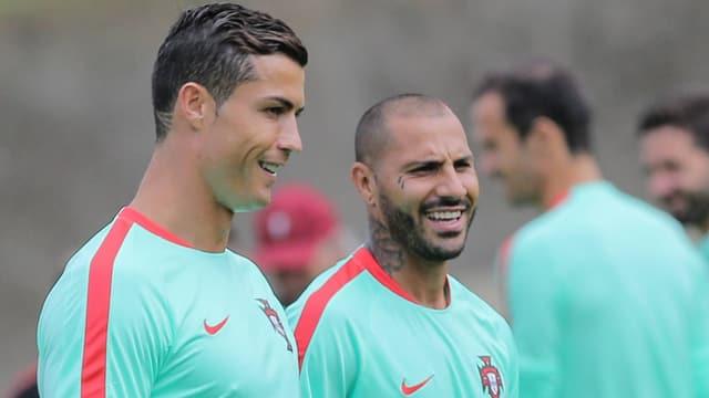 Cristiano Ronaldo und Quaresma.