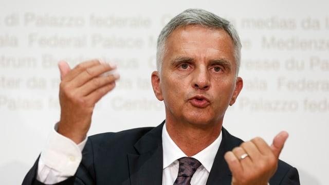 Il ministers da l'exteriur svizzer, il cusseglier federal Didier Burkhalter.