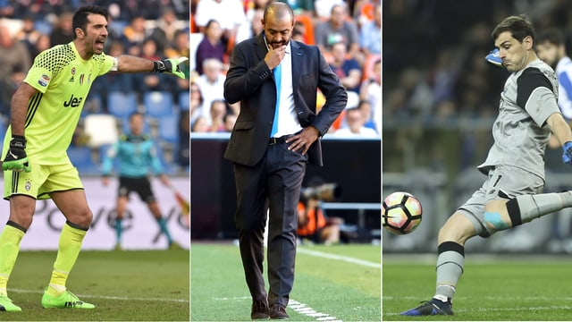 Casillas, Espirito Santo und Buffon.